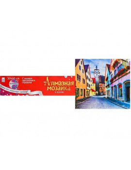 Алмазная мозаика с полным заполнением, 30 × 40 см «Яркий город»