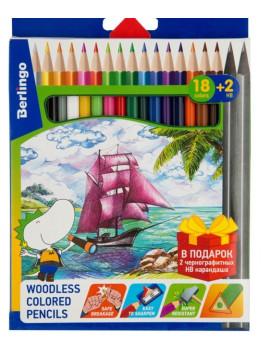 Карандаши цветные 18 цветов + два...