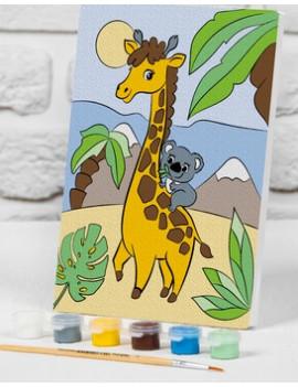 """Роспись по номерам """"Жираф с коалой""""..."""