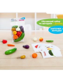 Обучающий набор Овощи (9 карточек +...