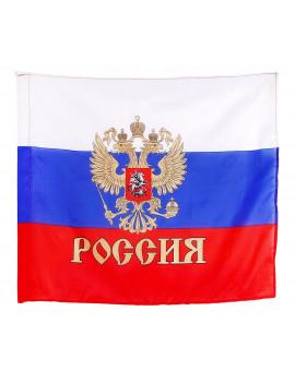 """Флаг """"Россия"""" с золотым гербом...."""
