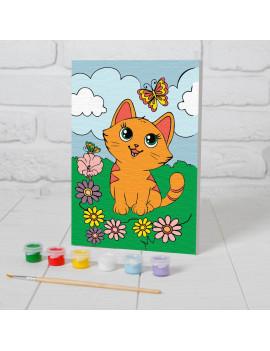 Картина по номерам «Котёнок с...