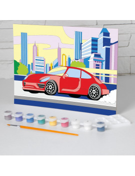 Картина по номерам «Машина» 20х28,5 см