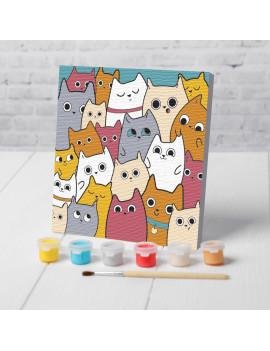Картина по номерам «Милые котята»...